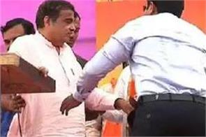 nitin gadkari gets unconscious during the election campaign