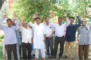 farmers demand for relife of destriyed crops