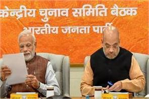 declaration of nomination from bjp candidates till date