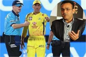 dhoni should be banned after came on ground sehwag said