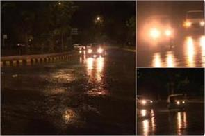 rain rolled mercury with strong winds in delhi ncr