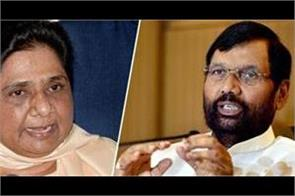 paswan targets mayawati for comments on modi s caste