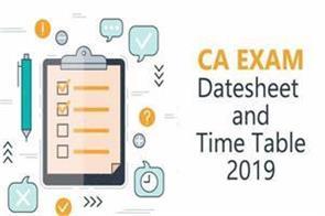 icai ca exam exam date change chartered accountants