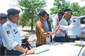 traffic police challaned 285 in kathua