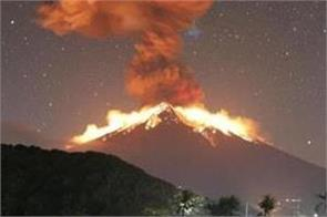 volcano activated on bali bali indonesia canceled many flights