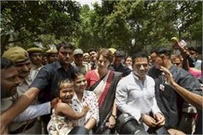 priyanka gandhi voted with robert vadra