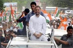 when slogans of rahul gandhi road show modi jindabad