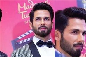 shahid kapoor his wax statue at madame tussaud in singapore