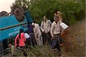 bhiwani road accident one killed and 15 injured