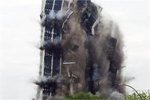 21 storey building in us demolished in 16 seconds video viral