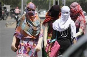 heavy heat in delhi temperature reached 43 degree
