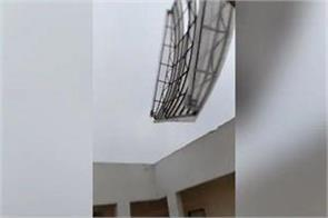 cyclone pummels aiims bhubaneswar building hostel roof torn off