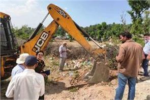 jda starts anti encroachment drive in jammu bahu area