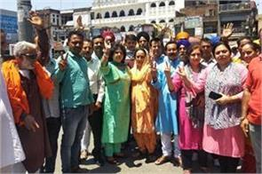 bjp workers celebrated victory in kathua