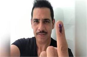 by voting robert vadra tweeted with the flag of paraguay