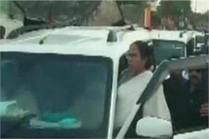 mamata s convoy arrested on 10 arrested