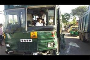 army school bus collides with another brake fails 5 children injured
