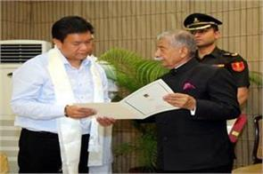 pema khandu to be sworn in as chief minister on may 29