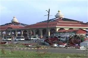 cyclone phani the huge damage to the jagannath temple