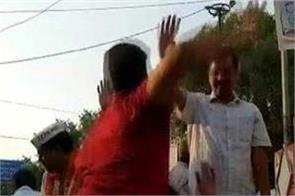 kejriwal attacks congress bjp condemns