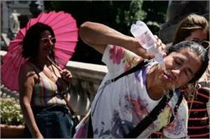 europe heatwave the probability of reaching 45 degree celsius in france