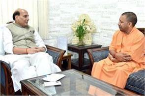 yogi meets rajnath singh and piyush goyal