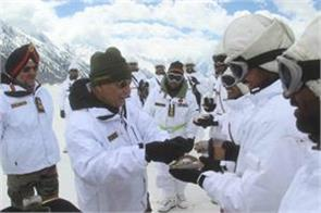 after met the soldiers in siachen rajnath says salute your patience and courage