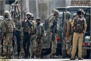 j k security forces piled one militants in budgam encounter