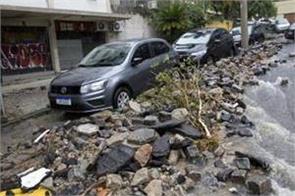 heavy rains cause floods kill 7 in rio de janeiro  crisis