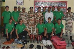 itbp team departs to bring dead bodies of 8 climbers