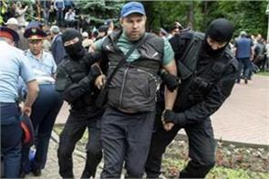 kazakh police beat journalist amid post vote unrest