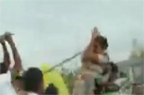 police team forest guards were attacked by trs workers