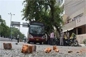 car hits crowd in delhi during namaz