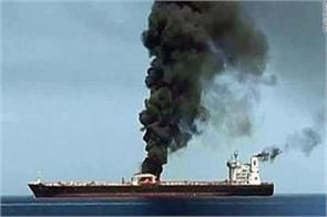 explosion on oil tankers in oman bay heavy tension in the middle east