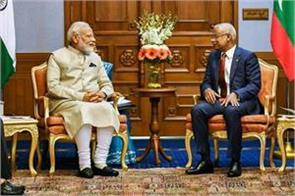 india will help preserve maldives s famous mosque modi