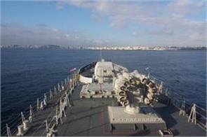 indian navy ins takarkh reached morocco