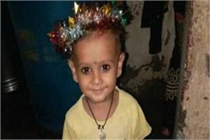 mumbai a 2 year old boy in an open drain in goregaon