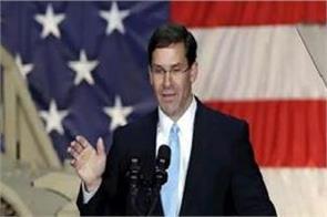 mark esper sworn in as defense secretary of us