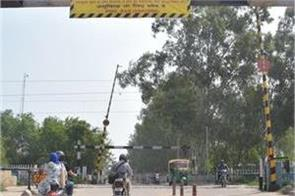 railway crossing closes in panchkula for eight month