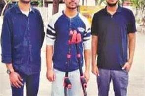 delhi iit students make crutches for disabilities person
