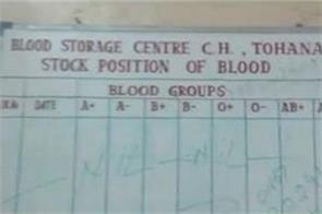 tohana s civil hospital battling for  lack of blood