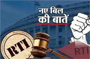 amendment in the rti bill know what changes will be
