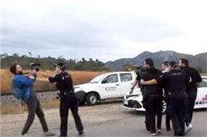 australia detains french tv crew filming anti coal protest