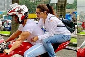 shoaib ibrahim enjoy bike ride with wife dipika kakar