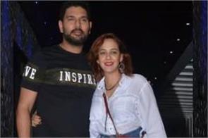 hazel keech spotted with husband yuvraj singh
