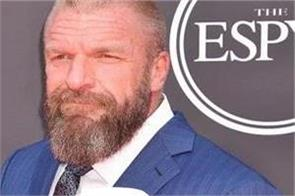 wwe triple h s give special championship belt to team england