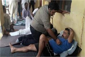phe employees on hunger strike in kathua checked by doctor