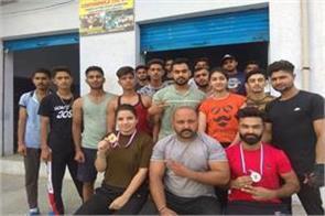 village level childrens won power lifting championship