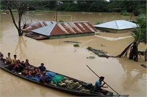 flood situation in assam due to of water from bhutan