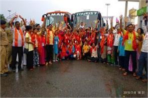 amarnath yatris are reaching jammu kashmir